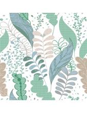 """Салфетка для декупажа SDOG013202 """"Зеленые листья"""", 33х33 см, POL-MAK"""
