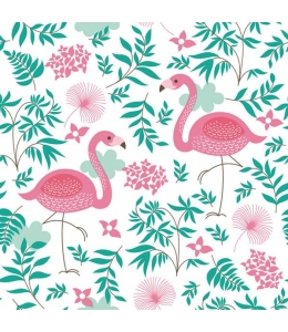 """Салфетка для декупажа SDOG013301 """"Розовый фламинго"""", 33х33 см, POL-MAK"""