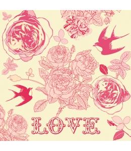 """Салфетка для декупажа SDOG013401 """"LOVE"""", 33х33 см, POL-MAK"""