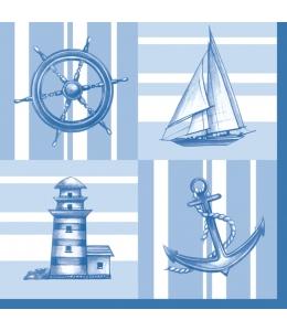 "Салфетка для декупажа SDOG016001 ""Морские символы"", 33х33 см, POL-MAK"