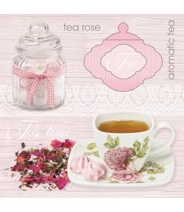 "Салфетка для декупажа SDOG016301 ""Розовый чай"", 33х33 см, POL-MAK"