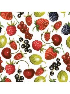 Салфетка для декупажа Садовые ягоды, 33х33 см, POL-MAK