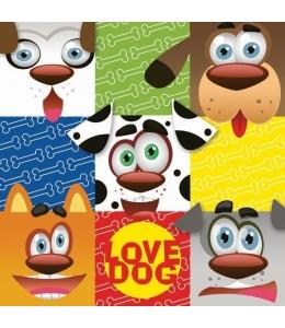 "Салфетка для декупажа SDOG022401 ""Love dog"", 33х33 см, POL-MAK"