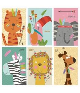 "Салфетка для декупажа SDOG022801 ""Рисунки животных"", 33х33 см, POL-MAK"