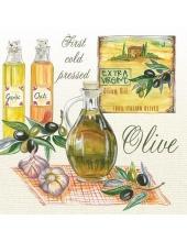 "Салфетка для декупажа SDOG023101 ""Оливковое масло"", 33х33 см, POL-MAK"