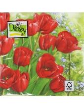 "Салфетка для декупажа SDWI002601 ""Тюльпаны"", 33х33 см, POL-MAK"