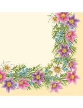 """Салфетка для декупажа SDWI002801 """"Весенние цветочки"""", 33х33 см, POL-MAK"""