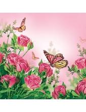 """Салфетка для декупажа SDWI003501 """"Розовые розы"""", 33х33 см, POL-MAK"""
