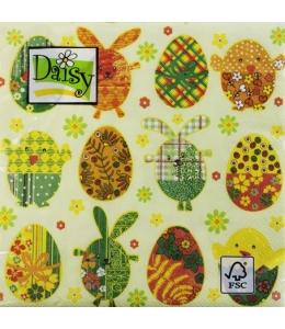 """Салфетка для декупажа SDWL003001 """"Пасхальные яйца"""", 33х33 см, Германия"""