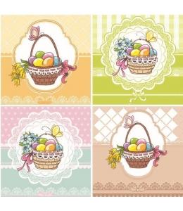 """Салфетка для декупажа SDWL005901 """"Корзинки с пасхальными яйцами"""", 33х33 см, POL-MAK"""