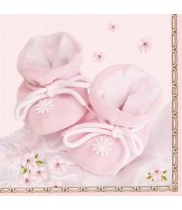 "Салфетка для декупажа SLCH000401 ""Розовые пинетки"", 33х33 см, POL-MAK"