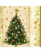 """Салфетка для декупажа SLGW000402 """"Новогодняя ёлка"""", 33х33 см"""