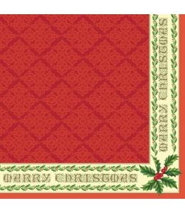 "Салфетка для декупажа SLGW005403 ""Цвет Рождества"", 33х33 см"