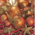 "Салфетка для декупажа SDGW006101 ""Новогодние шары"", 33х33 см"