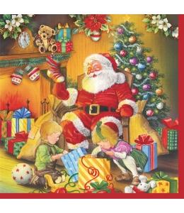"Салфетка для декупажа SLGW006201 ""Подарки от Санты"", 33х33 см, POL-MAK"