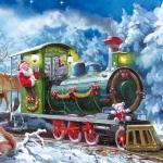 """Салфетка для декупажа SLGW006801 """"Рождественский поезд"""", 33х33 см"""