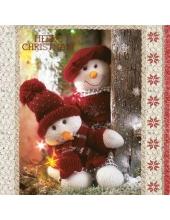 "Салфетка для декупажа SLGW010001 ""Рождественские игрушки"", 33х33 см, POL-MAK"