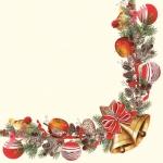 "Салфетка для декупажа SLGW010401 ""Рождественская гирлянда"", 33х33 см"