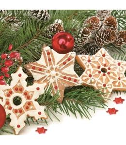 "Салфетка для декупажа SLGW011601 ""Рождественские пряники"", 33х33 см, POL-MAK"
