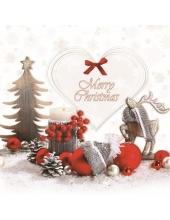 "Салфетка для декупажа SLGW014401 ""Рождественский натюрморт"", 33х33 см, POL-MAK"