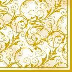 """Салфетка для декупажа SLOG001702 """"Золотистые завитки"""", 33х33 см"""