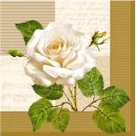 """Салфетка для декупажа SLOG002901 """"Роза и ноты"""", 33х33 см"""