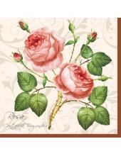 "Салфетка для декупажа SLOG003102 ""Роза на фоне орнамента"", 33х33 см"