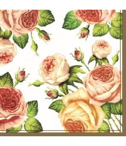 "Салфетка для декупажа SLOG003401 ""Английские розы"", 33х33 см, POL-MAK"