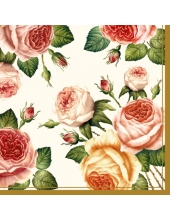 "Салфетка для декупажа SLOG003402 ""Розы"", 33х33 см"