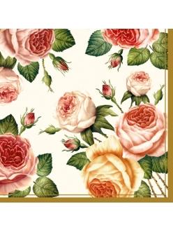 Салфетка для декупажа Розы, 33х33 см