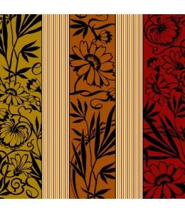 """Салфетка для декупажа SLOG006801 """"Коричневый цветочный орнамент"""", 33х33 см"""