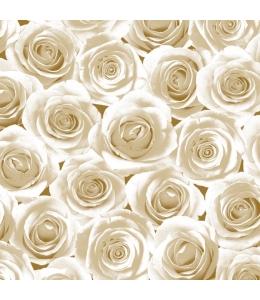 """Салфетка для декупажа SLOG006903 """"Розы кремовые"""", 33х33 см, POL-MAK"""