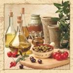 "Салфетка для декупажа SLOG007901 ""Оливковое масло, оливки"", 33х33 см"