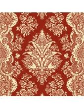 "Салфетка для декупажа SLOG008602 ""Орнамент на красном фоне"", 33х33 см"