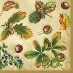 """Салфетка для декупажа SLOG008901 """"Листья и ягоды"""", 33х33 см"""