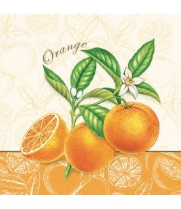"Салфетка для декупажа SLOG010201 ""Апельсины"", 33х33 см"