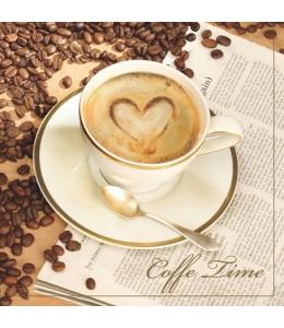 "Салфетка для декупажа SLOG010301 ""Чашечка кофе"", 33х33 см, POL-MAK"