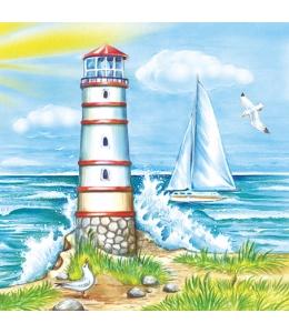 "Салфетка для декупажа SLOG011001 ""Море, маяк"", 33х33 см, Германия"
