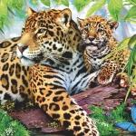 "Салфетка для декупажа SLOG012501 ""Леопарды"", 33х33 см"