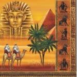 "Салфетка для декупажа SLOG015701 ""Египет, пирамиды"", 33х33 см"