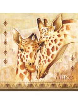 Салфетка для декупажа Африка, жирафы, 33х33 см, SLOG016001