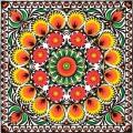"Салфетка для декупажа SLOG016502 ""Оранжевый орнамент"", 33х33 см, POL-MAK"