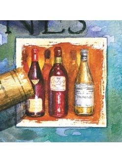 Салфетка для декупажа Вино, 33х33 см