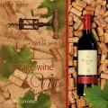 """Салфетка для декупажа SLOG019101 """"Вино, пробки"""", 33х33 см"""