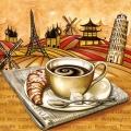 """Салфетка для декупажа SLOG020101 """"Чашка кофе"""", 33х33 см, POL-MAK"""