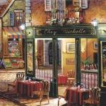 "Салфетка для декупажа SLOG020201 ""Парижское кафе"", 33х33 см"