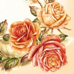 "Салфетка для декупажа SLOG022001 ""Розы"", 33х33 см"