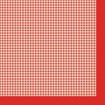 "Салфетка для декупажа SLOG022102 ""Красная клетка"", 33х33 см"