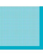 """Салфетка для декупажа SLOG022106 """"Голубая клетка"""", 33х33 см, Германия"""