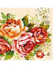 "Салфетка для декупажа SLOG022901 ""Розы"", 33х33 см"